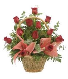 Basket of Red Roses